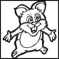hamster para colorear