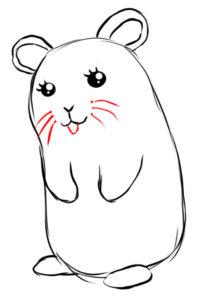 hamster para dibujar