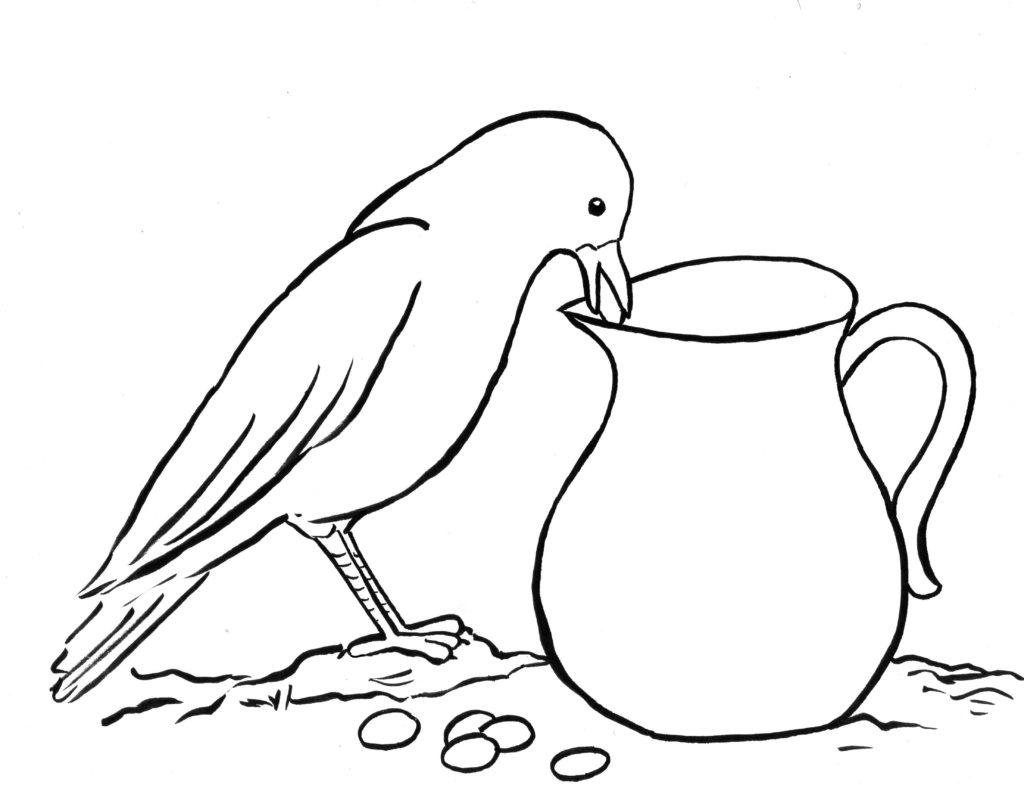 ᐈ Dibujos De Cuervosguiapinta Un Cuervo Negro