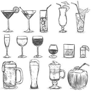 bebidas para colorear