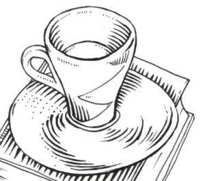 cafe en dibujo