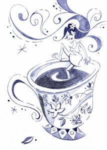 cafe para dibujar