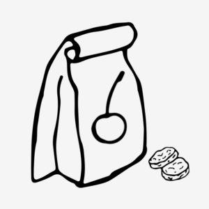 dibujos animados de comida