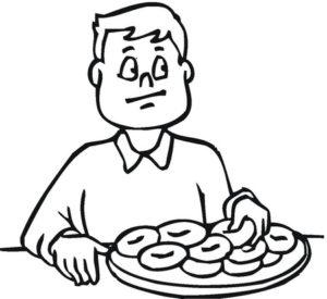 dibujos de alimentos saludables para niños