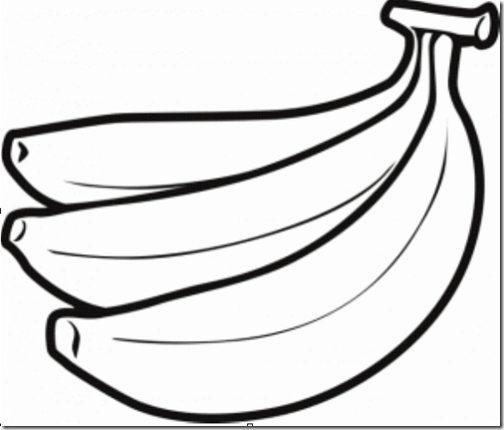 Dibujos De Bananas Tutorial Láminas De Bananas Para Pintar