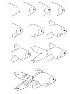 cómo dibujar un pescado