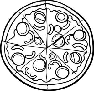 cómo dibujar una pizza