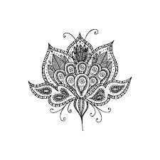 como dibujar flor de loto
