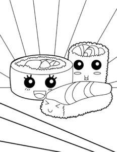 como dibujar sushi
