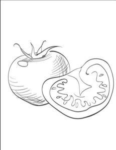 como dibujar tomate