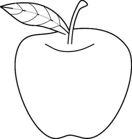Una manzana para colorear