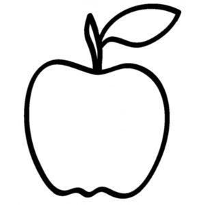 dibujo manzana