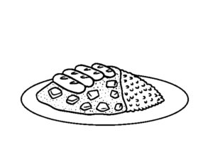 dibujo plato comida
