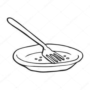dibujo plato del buen comer