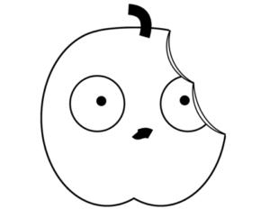 imagen de manzana mordida