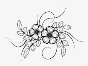 imagenes de flores para dibujar a lapiz