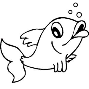 imagenes de pescados animados para colorear