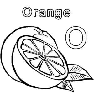 naranja dibujo para colorear