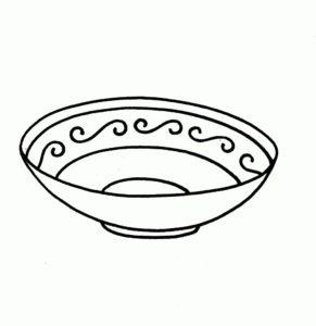 plato comida dibujo