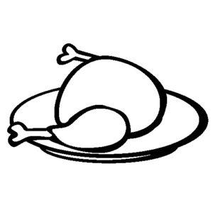 pollo asado dibujo
