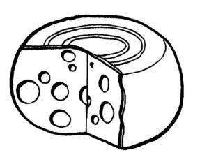 queso en caricatura