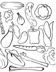 vegetales dibujos