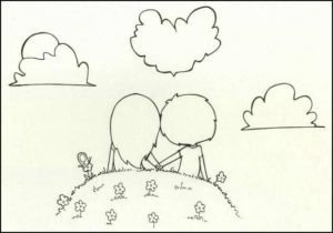 imagenes para dibujar a lapiz de amor