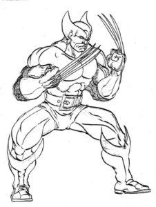 dibujos de logan wolverine