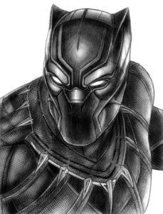 dibujos de pantera negra kawaii