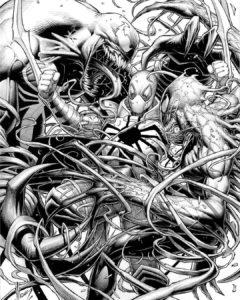 dibujos de spiderman y venom