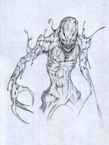 dibujos de venom para colorear