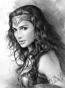 dibujos para colorear de la mujer maravilla