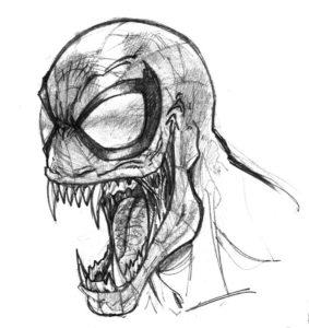 dibujos para colorear de venom