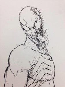 imagenes de venom para colorear
