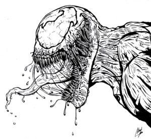 imagenes para colorear de venom