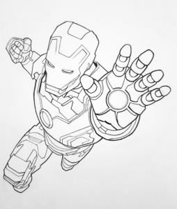 ironman para dibujar