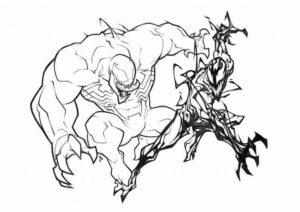 spiderman y venom para colorear