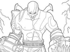 dibujo de kratos imagenes