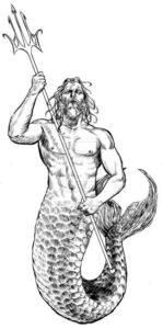 dibujo del dios poseidon