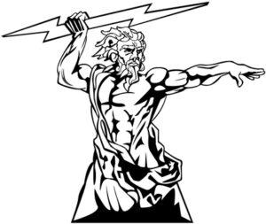 dibujo del dios zeus