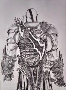 dibujos a lapiz de kratos