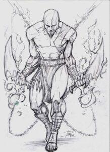 dibujos cuadriculados de kratos