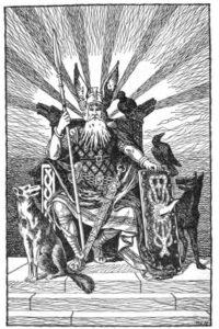 dibujos de barcos vikingos odin
