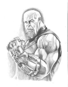 dibujos de iron man con el guantelete del infinito