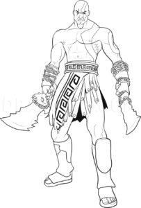 dibujos de kratos fáciles