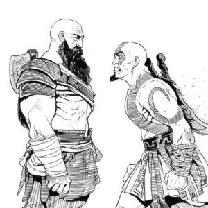 dibujos de kratos kawaii
