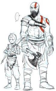 dibujos de kratos para pintar