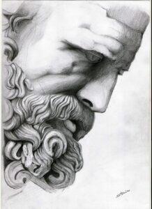 dibujos de la estatua de zeus