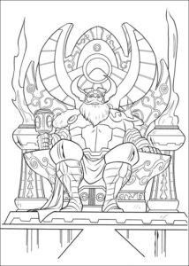 dibujos de vicky el vikingo odin