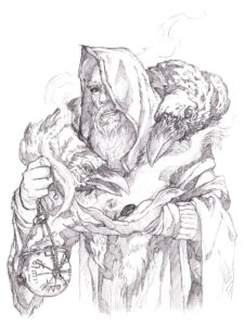 dibujos de vicky el vikingo para colorear odin